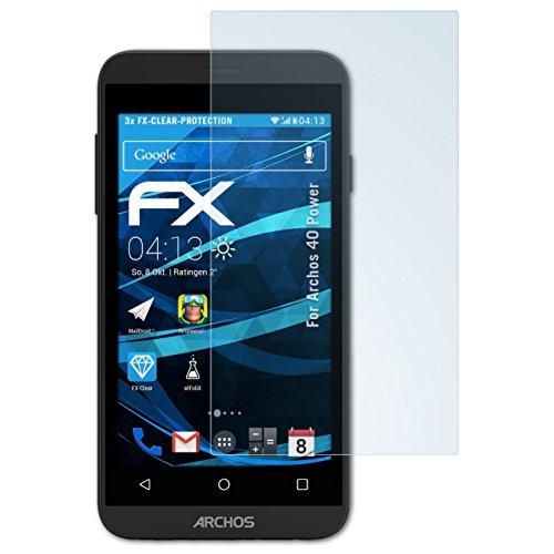 atFolix Schutzfolie kompatibel mit Archos 40 Power Folie, ultraklare FX Bildschirmschutzfolie (3X)