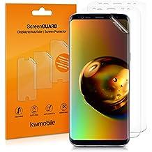 kwmobile 3in1 Set: Transparente Displayschutzfolie für Samsung Galaxy S8 - klare Schutzfolie TPU Folie - auch für gewölbtes Display