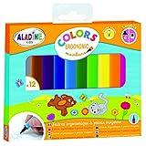 Aladine Colors Ergonomic Markers Feutres ergonomiques lavables, 42024, Multicolore