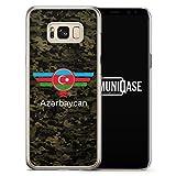 Aserbaidschan Azerbaycan Camouflage mit Schriftzug - Hardcase Handy Hülle für Samsung Galaxy S8 - Case Cover Schutzhülle - Bedruckte Flagge Flag Military Aserbaijan Militär