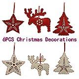 Decorazioni di Natale, albero di Natale da parete ciondolo, regalo da appendere, pezzi. [13cm (12,7cm) 6pcs] Red/White
