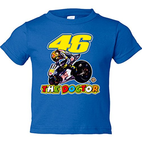 Camiseta niño Valentino Rossi Moto GP - Azul Royal, 5-6 años