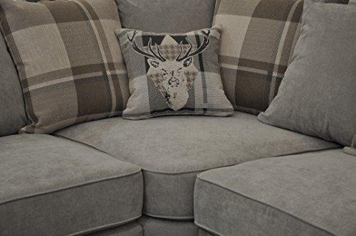 Corner Sofa Verona Fabric Grey Brown Cream Designer Scatter Cushions Living  Room Furniture Part 68