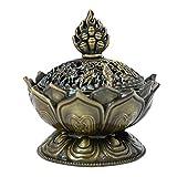 AiSi Lotus Encensoir Encens en Alliage Décoration Porte Encens Bronze