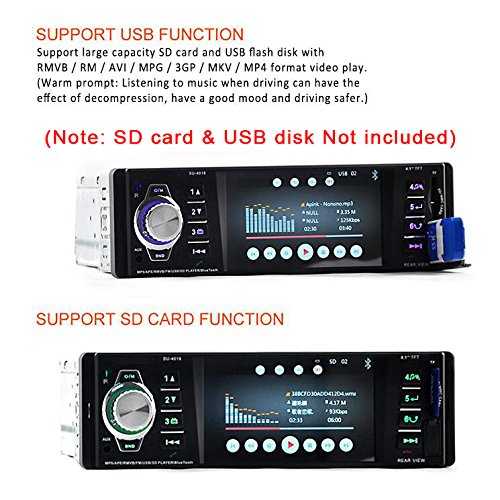 ieGeek Bluetooth Stereo Car Stereo Audio Receiver for Car Radio 1 Din FM MP3 Player USB//SD//AUX with Remote Control
