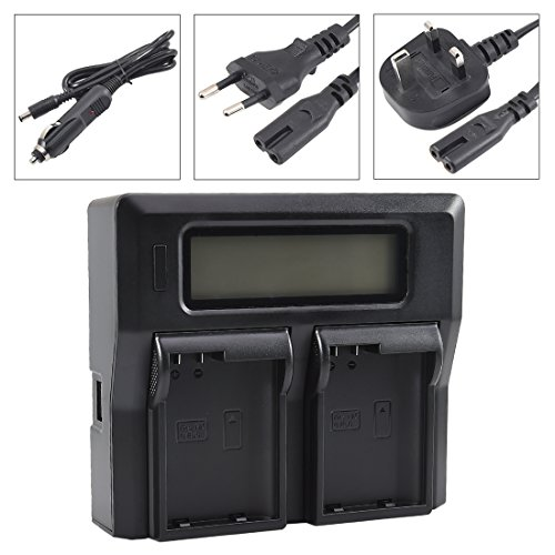 DSTE 1.5A Fast Charging Dual Battery Charger for Nikon EN-EL15 ENEL15 1 V1 Z6 Z7 D600 D610 D750 D800 D800E D810A D7000 D7100 D7200,Nikon Battery Grip MB-D11 MB-D12 MB-D15 MB-D17 as MH-25