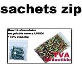 Sachets pour bijoux ou pochette plastique zip - Format 100 x 150 mm / Lot de 100