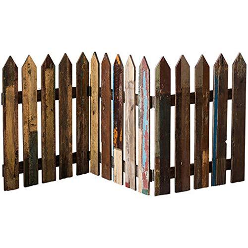 NBRTT Zierzaun für Miniaturgarten, Fairy Garden Ornamente, Holzplatte Lattenzaun, Holz Grenze Zäune Rasen, Terrasse, Garten, Wohn