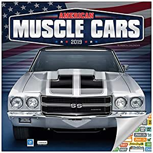 American Muscle Cars Calendar 2019 Set - Deluxe 2019 Muscle Cars Wall Calendar with Over 100 Calendar Stickers (American Muscle Cars Gifts, Office Supplies)