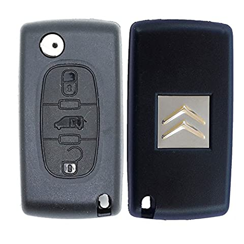 Citroen Replacement 3 Button Remote Car Key Fob Case with VAN Symbol and VA2 Flip Blade