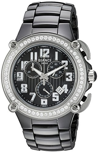 ROBERTO BIANCI WATCHES Women's 'Classico' Swiss Quartz Ceramic Casual Watch, Color:Black (Model: RB58450)