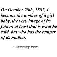 Reprint of On October 28th, 1887, I became the mother of a girl baby, the very image of its father, at least that is what he said, but who has the temper of its mother.