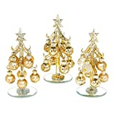 Dekoriert Glas Weihnachtsbaum mit Kugeln Gold Small