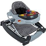 2IN1 Lauflernhilfe/Babyschaukel mit Spielcenter (12 Melodien) und Einlage (GRAU)