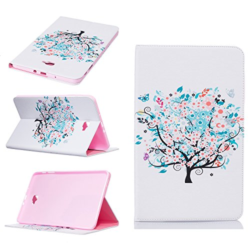 Galaxy Tab A 10.1Fall, beimu Ultra Leicht Slim PU Leder mit Kreditkarte & ID Card Slot Schutzhülle für Samsung Galaxy Tab A 25,7cm (sm-t580/sm-t585) (Kein S Pen) Tablet 2016Release, Snow Tree