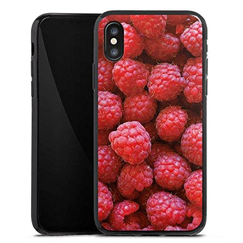 Apple iPhone 5c Silikon Hülle Case Schutzhülle Himbeere Raspberry Sommer Silikon Case schwarz