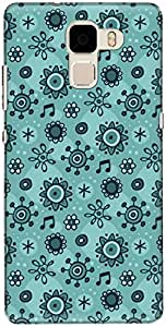The Racoon Lean printed designer hard back mobile phone case cover for Huawei Honor 7. (flower bub)