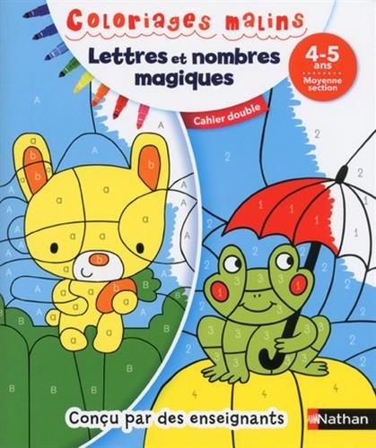 Lettres et nombres magiques, moyenne section 4-5 ans : Cahier double