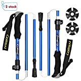 Colisal Collapsible Trekking Poles Hiking Sticks Folding Hiking Poles Folding Trekking Poles Folding