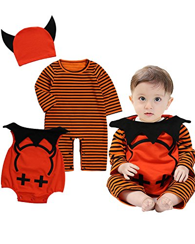 Langarm Cosplay Halloween Karneval Bodysuit Jumpsuit Outfits Set Style 2 80/9-12M (Babys Halloween-outfits)