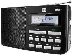 Digitalradio mit Kopfhöreranschluss, DAB+, LCD-Display, Sendersuchlauffunktion, Antenne, FM, Senderspeicher, Mechanischer Lautstärkeregler, Netz- und Batteriebetrieb, Schwarz, Dual DAB 5.1