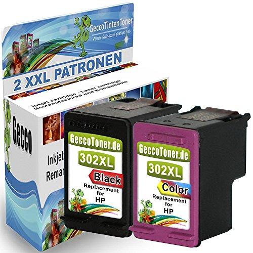 2 Remanufactured hp 302 xl 302xl Schwarz Black Farbig Color Druckerpatronen kompatibel für Deskjet 3636 HP Envy 4525 HP Officejet 3831 HP Deskjet 1110 HP Deskjet 3630 HP OfficeJet 4655 HP Envy 4520 All in One HP Deskjet 2130 All-in-One HP OfficeJet 4650
