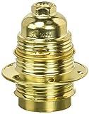Electraline 71129 - Casquillo E27 fileteado (incluye 2 anillos de latón)