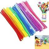 OUNONA 150pcs Jumbo chenilla tallos aula limpiapipas para manualidades bricolaje / boda / fiesta /...