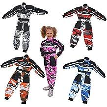Wulfsport Kids camuflaje Mono de traje de carrera Motocross Karting niño Wulf nueva suave