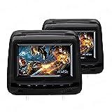 XTRONS® 2x 7 Zoll Auto Kopfstütze mit DVD Player HD Digital Screen USB SD FM/IR in Schwarz