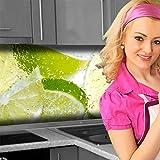 Küchenrückwand < Fresh Lemon > Premium Hart-PVC 0,4 mm selbstklebend 400x80cm