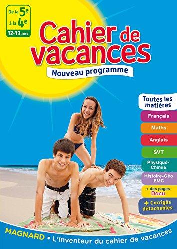 Cahier de vacances - De la 5e à la 4e - 12-13 ans par Collectif