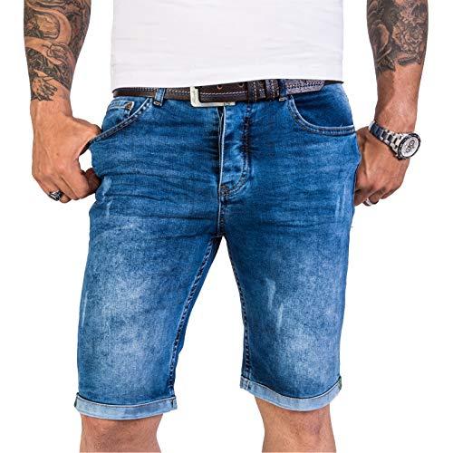 Rock Creek Herren Shorts Jeansshorts Denim Short Kurze Hose Herrenshorts Jeans Sommer Hose Stretch Bermuda Hose Blau RC-2201 Darkblue W38 (Denim Stretch Jeans)