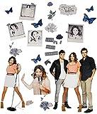 Unbekannt 26 TLG. Set _ XL Wandtattoo / Sticker -  Disney Violetta  - Wandsticker - Aufkleber für Kinderzimmer - selbstklebend + wiederverwendbar - Mädchen / Martina ..
