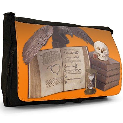 Fancy A Bag Borsa Messenger nero Halloween Props Spooky Skulls Black Crow Poison Halloween Props Spooky Skulls Black Crow Poison