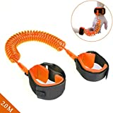 Baby Child Anti Lost Safety Wrist Link Harness Strap Rope Backpack Leash Walking Hand Belt Band Wristband for Toddlers, Kids (Orange)