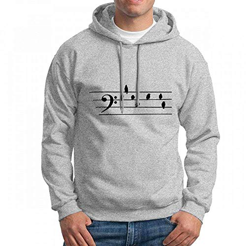 Sweatshirt Hoodie Men Music Bass Clef Birds As Notes Hoodies Sweatshirt