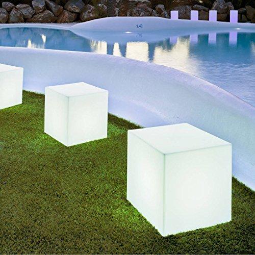 New Garden LUMCB045OFNW Energisparlampe, Plastik, 15 W, E27, weiß, 43 x 43 cm
