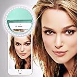 SISWOO R9 DARKMOON (Hellgrün) Clip auf Selfie Ringlicht,