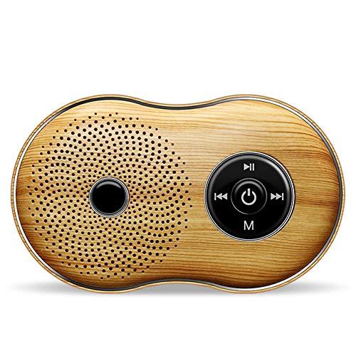 Lu Tragbarer Bluetooth-Lautsprecher, hölzerner Retro-Handy drahtlosen Mini-Karte Subwoofer kleine Stereoanlage, geeignet für Tablet-Handys