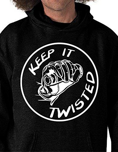 Felpa con cappuccio Keep it twisted - moto velocità - Tutte le taglie by tshirteria Nero