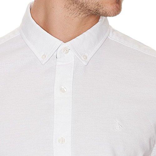 Original Penguin Basic Stretch Oxford S/S Shirt Bright White Bright White