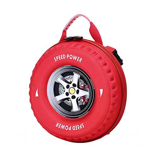 GWELL Kinder Rucksack Reifen-Form Babyrucksack Kindergartenrucksack Kleinkind Kindertasche Jungen rot