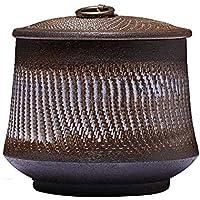 ZYHJAMA Ceniza de Arena púrpura urna de cremación Adecuada para Mascotas, Cenizas de Adultos Humanos, latas Decorativas Retro