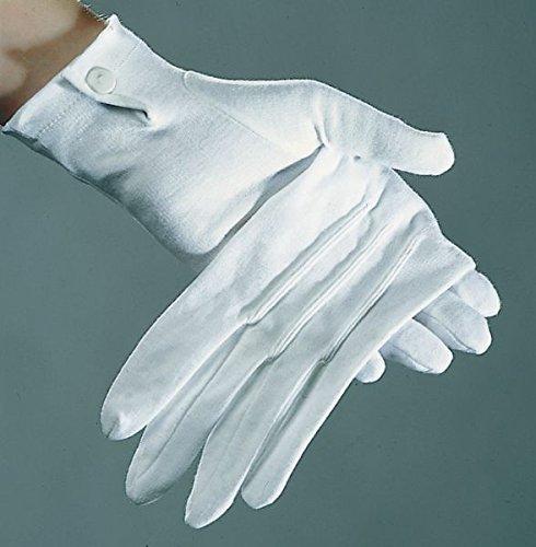 Kostüm Zubehör Baumwoll Handschuhe weiß zu Karneval Fasching Damen