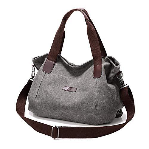 EXCLVEA Damen Lederhandtasche Frauen Tote Bag Handtaschen Canvas Top Griff Satchel Geldbörse Umhängetaschen Umhängetasche for Frauen Canvas Damen Umhängetasche Casual & Work -