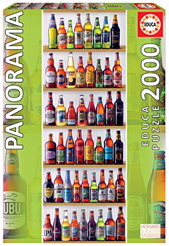 Educa Borras Puzzle Cervezas Del Mundo Panorama 2000 Piezas (18010)