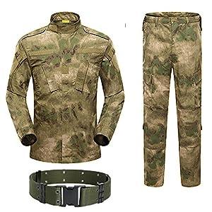 H Monde Shopping pour homme tactique BDU Combat uniforme Veste Chemise & Pantalons Costume pour l'armée militaire Airsoft Paintball Chasse Jeu de guerre Végétato at