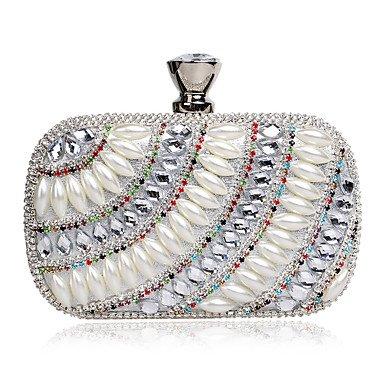 bing-womens-the-elegant-luxury-handmade-pearl-diamonds-evening-bag-silver