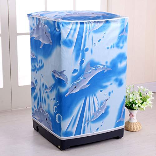 nantongluerdao Wasserdichter Schutzbezug für Waschmaschine, 55 x 58 x 87 cm Type a Automatic Washing Machine Cover 55 58 87cm Under Waves -